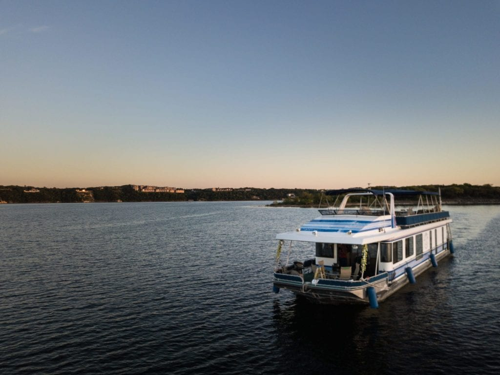 Utopian Cruise boat on Lake Travis