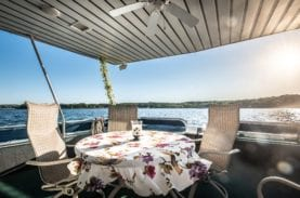 dining table on boat