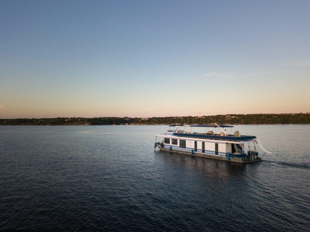 Utopian Cruise boat on Lake Travis